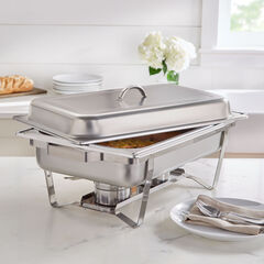 9-Qt. Stainless Rectangular Chafing Dish,