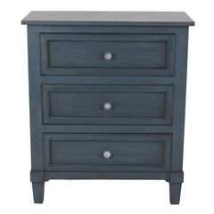3-Drawer Side Table Antique Navy by J. Hunt,
