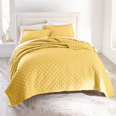 Harper Solid Diamond Quilt, HONEY