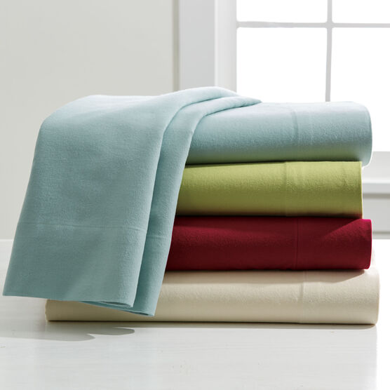 Cotton Flannel Solid Sheet Set ,