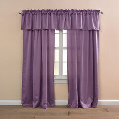 BH Studio Room-Darkening Rod-Pocket Valance, MULBERRY