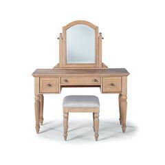 Cambridge White Vanity/Mirror & Bench,