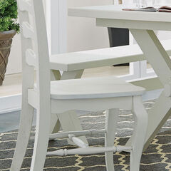 Seaside Lodge Dining Chair Pair, WHITE