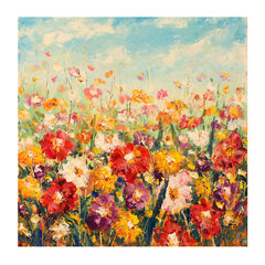 Floral Palette All-Weather Outdoor Canvas Art,