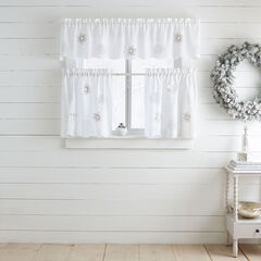 SnowFlake Applique Cafe Curtains,