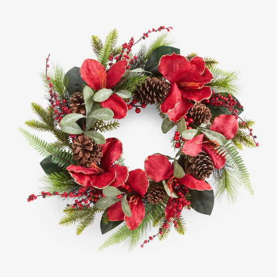 Amaryllis Wreath, RED