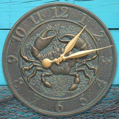 Crab Sealife Clock,