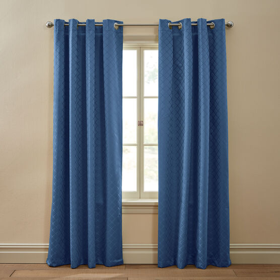 Diamond Thermal Grommet Curtain,
