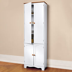 Country Kitchen Tall Cabinet, WHITE HONEY