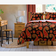 Midnight Paisley Quilt Set ,