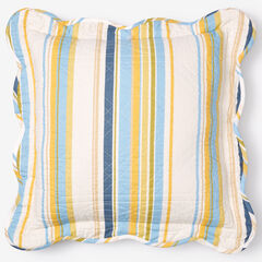 "Florence 16"" Square Pillow, SKY BLUE STRIPE"
