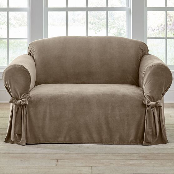 Velvet Loveseat Slipcover ,