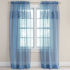 BH Studio® Pleated Voile Rod-Pocket Panel,