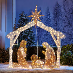 Crystal Splendor Outdoor Nativity Scene ,