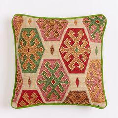 14' x 14' Beaded Geo Pillow,