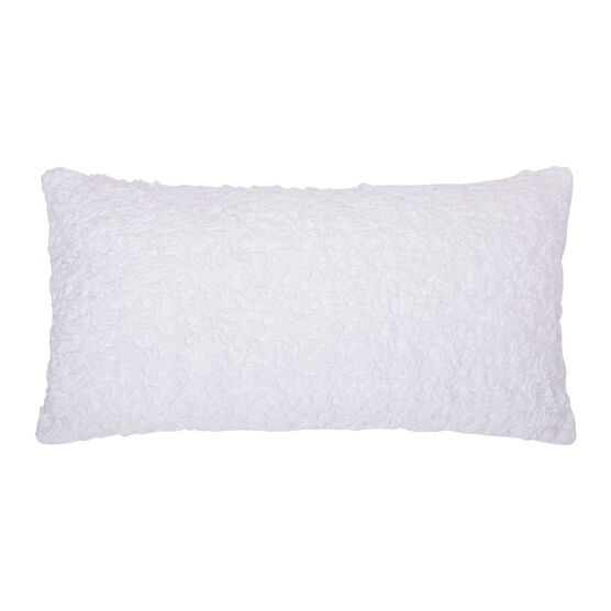 Summer Blossom Decorative Pillow, WHITE