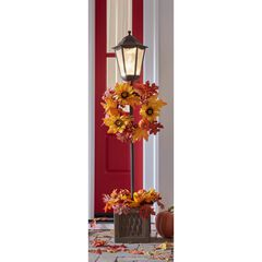 "48"" Harvest Lamppost with Brown Urn,"