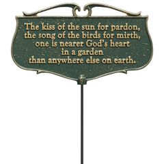 The Kiss of the Sun Garden Poem Sign,