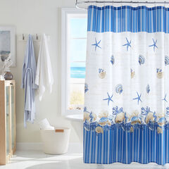 Caribbean Joe 14-Pc. Shower Curtain Sets, SHELL WREATH