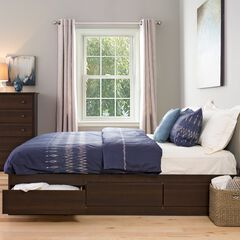 King Mate's Platform Storage Bed with 6 Drawers,
