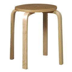 "17"" Bentwood Stool, Set of 4, NATURAL"