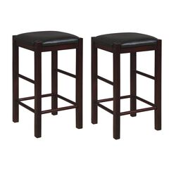 Lancer Backless Counter Stools, Espresso - Set of Two,