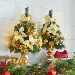 "24""H Tabletop Christmas Tree , GOLD"
