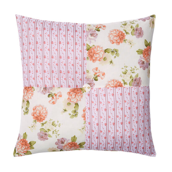 "Alexis 16""Sq. Pillow, ECRU ROSE"