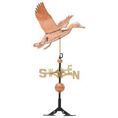 Copper Duck Weathervane ,