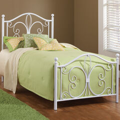 Hillsdale Ruby Twin Bed Set with Rails,