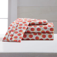 220-TC Percale Citrus Fruit Sheet Set, GRAPEFRUIT