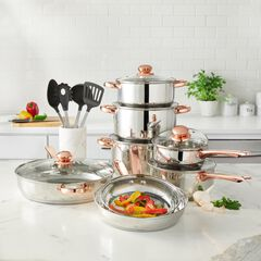 18-Pc. Copper Accent Stainless Set,
