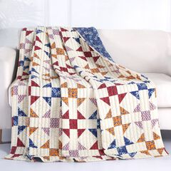 Barefoot Bungalow Savannah Quilted Throw Blanket,