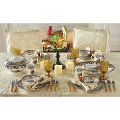 16-Pc. Turkey Dinnerware Set,