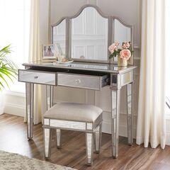 Kalla Mirrored Vanity Set,