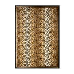 Zone Leopard Print Rug, 5'2'x7'4',