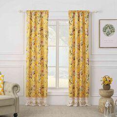 Finley Yellow Curtain Panel Pair,