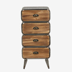 Urban Loft 4 Rounded Drawer Chest,