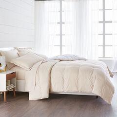 BH Studio Reversible Baffle Box Comforter, OATMEAL WHITE