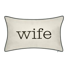 "Celebrations """"Husband"""" and """"Wife"""" Embroidered Decorative Pillow ,"
