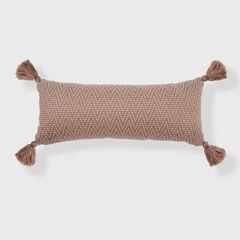 Herringbone Tassel Lumbar Pillow,
