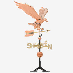 Copper Eagle Weathervane, POLISHED