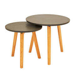 Concrete Nesting Tables, Set of 2,
