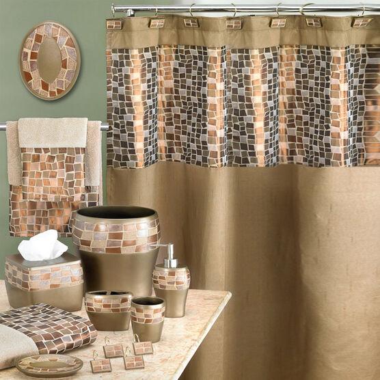 Mosaic Stone Waste Basket ,