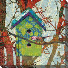 Birdie's Home Outdoor Wall Art,