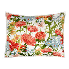 Bria Striped Floral Sham, FLORAL MULTI