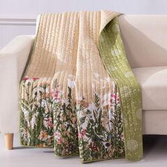 Dandelion Taupe Throw Blanket,