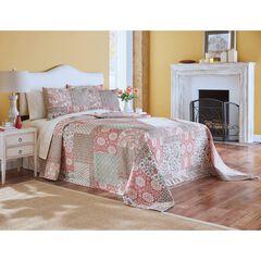 Velvet Printed Patchwork Bedspread,