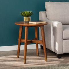 Rhoda Round Midcentury Modern End Table,