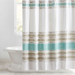 Merlin Cotton Tufted Shower Curtain,